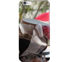 Baroque Period Hat with Flowers iPhone Case/Skin