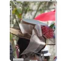 Baroque Period Hat with Flowers iPad Case/Skin