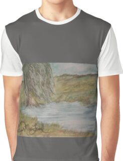 Willow On Pond Graphic T-Shirt