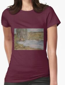 Willow On Pond Womens Fitted T-Shirt