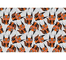 Cute cartoon orange monster Photographic Print