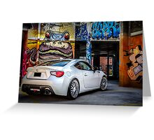 Toyota 86 GTS Parking Greeting Card