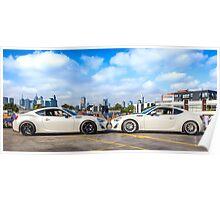 Toyota 86 GTS Mirrored Poster