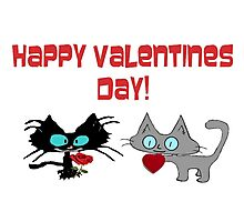 Cats Wish On Valentines Day Photographic Print