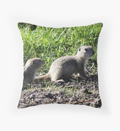 Twin Pups Throw Pillow