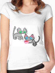 Two Cats On ValentinesDay Women's Fitted Scoop T-Shirt
