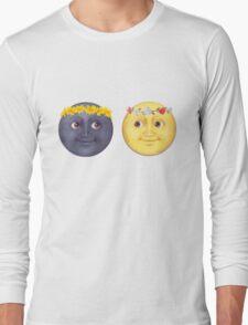 Moon and Sun Emoji Flower crown. Long Sleeve T-Shirt