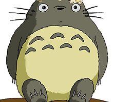 Flower crown Totoro by MythsInc