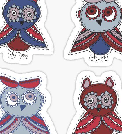 Two smart owls Sticker