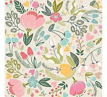 Floral Preppy Pastel Pattern Photographic Print