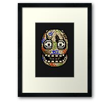 Five Nights at Candy's - Pixel art - Blank animatronic Framed Print