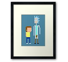 Rick and Morty Pixels  Framed Print