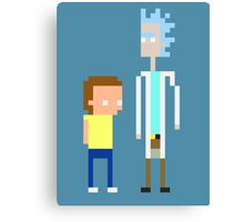 Rick and Morty Pixels  Canvas Print