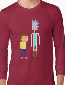 Rick and Morty Pixels  Long Sleeve T-Shirt