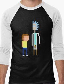 Rick and Morty Pixels  Men's Baseball ¾ T-Shirt