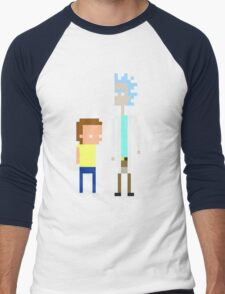 Rick and Morty Pixels  Men's Baseball ¾ T-Shirt