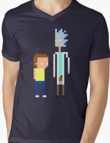 Rick and Morty Pixels  Mens V-Neck T-Shirt