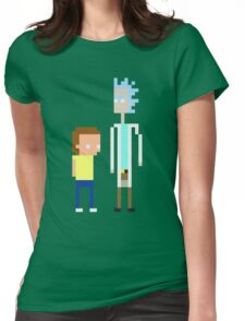 Rick and Morty Pixels  Womens Fitted T-Shirt