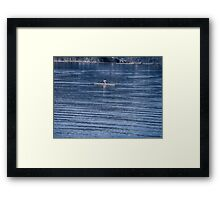 Single Rower Framed Print