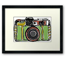 Vintage film camera big Framed Print