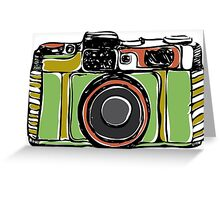 Vintage film camera big Greeting Card