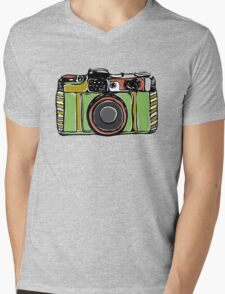 Vintage film camera big Mens V-Neck T-Shirt