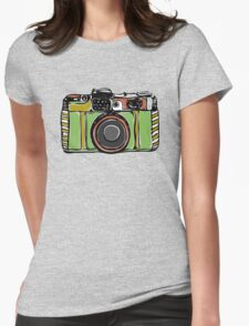 Vintage film camera big Womens Fitted T-Shirt
