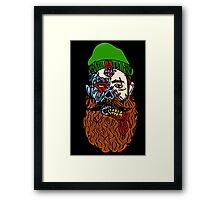 HipsterZombieBeardguy Framed Print
