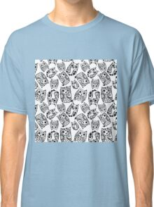 Funny cute owls with ink splashes. Classic T-Shirt