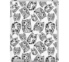 Funny cute owls with ink splashes. iPad Case/Skin