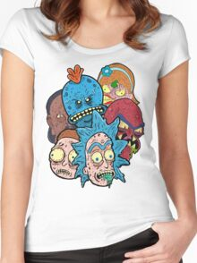 Rick nd Morty Women's Fitted Scoop T-Shirt