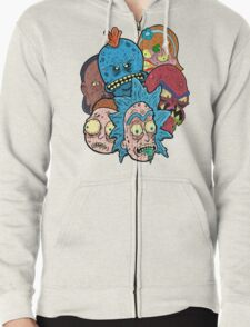 Rick nd Morty Zipped Hoodie
