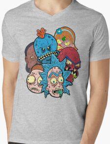 Rick nd Morty Mens V-Neck T-Shirt