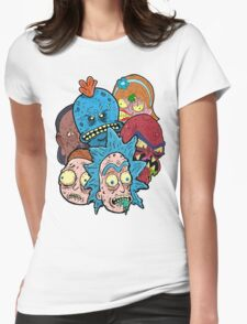 Rick nd Morty Womens Fitted T-Shirt