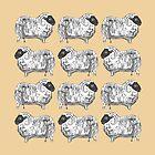 Sheep Cozy Creme Pattern by AbigailDavidson