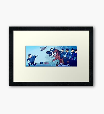 Party Hard - All the cops Framed Print