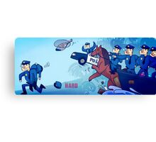 Party Hard - All the cops Canvas Print