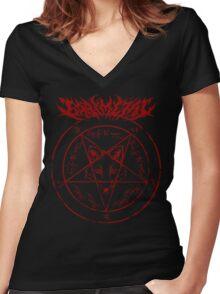 babymetal fox god (2) Women's Fitted V-Neck T-Shirt