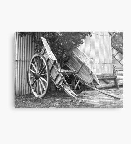 Old Horse Drawn Cart..... Metal Print