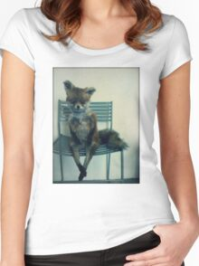 Stoned Fox. Women's Fitted Scoop T-Shirt