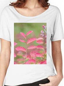 pink flower and leaves  in the garden Women's Relaxed Fit T-Shirt