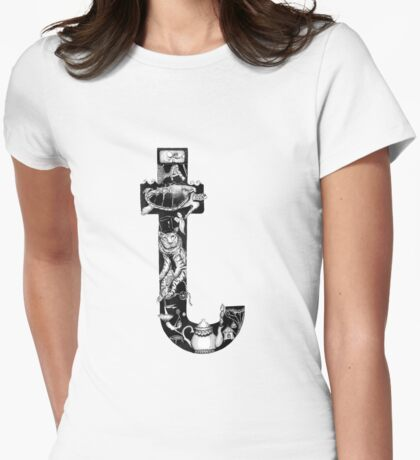 The letter 't' Womens Fitted T-Shirt