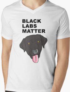 Black Labs Matter Mens V-Neck T-Shirt