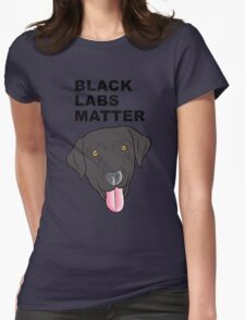 Black Labs Matter Womens Fitted T-Shirt