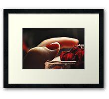 Dried love Framed Print