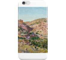 Thomas Seddon - Jerusalem and the Valley of Jehoshaphat from the Hill of Evil Counsel, Tate Britain iPhone Case/Skin