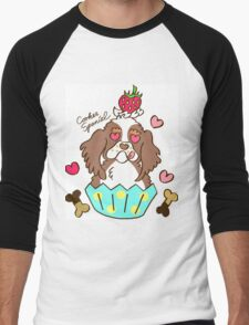 Cooker Spaniel Cupcake - tri color, party color Men's Baseball ¾ T-Shirt