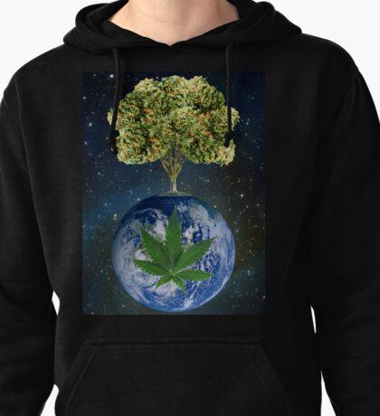 space weed tree Pullover Hoodie