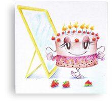Storia di una torta Canvas Print