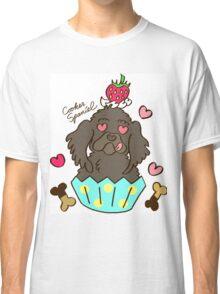 Cooker Spaniel Cupcake - Black Classic T-Shirt